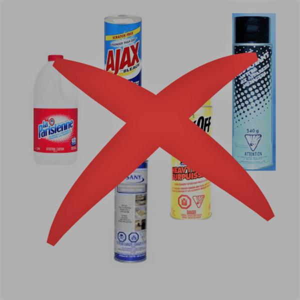 Produits nettoyants à éliminer
