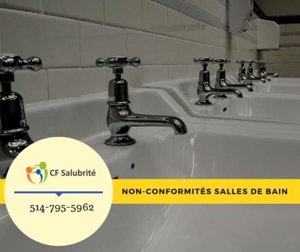 Non-conformités salles de bain
