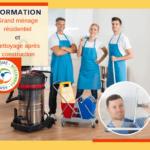 Formation Grand ménage et Nettoyage après construction
