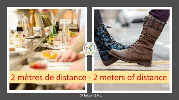 2 mètres de distances - 2 meters of distance