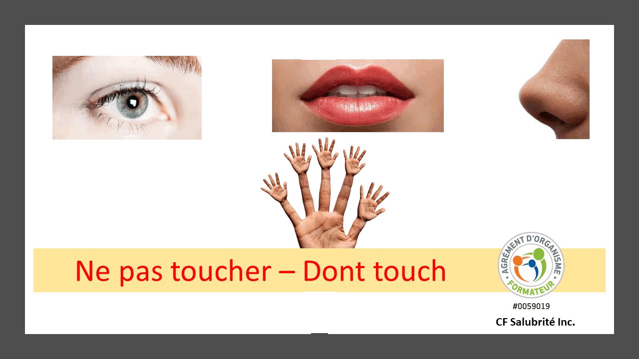 Ne pas toucher - Don't touch