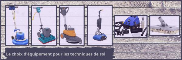 hoix d'équipement pour les techniques de sols