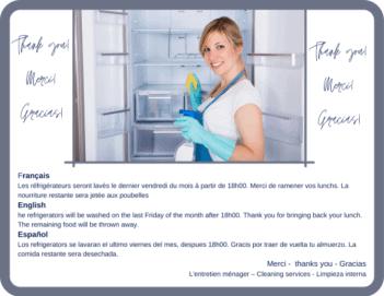 Nettoyage des réfrigérateurs - Cleaning refrigerators - Limpieza de refrigeradores2