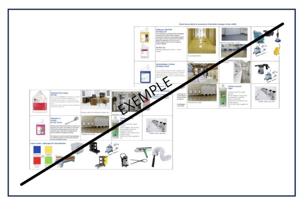 Charte de produits, accessoires et équipements d'entretien ménager