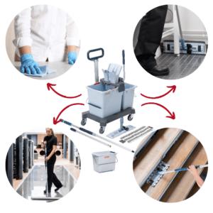 Système de lavage à plat UltraSpeed Pro Vileda Professional